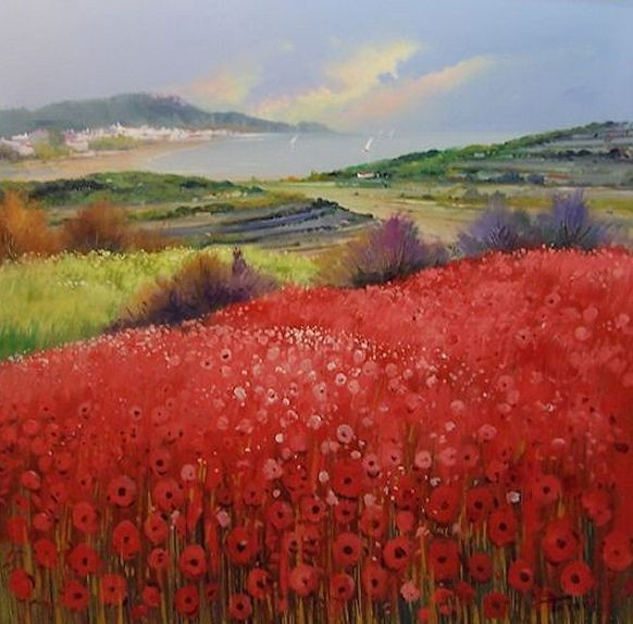 Coastal Red Poppies No.1